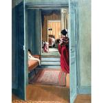 Interior with Woman in Red from Behind. Felix Valloton